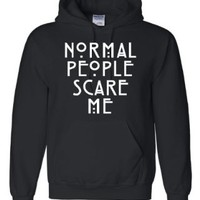X-Large Black Adult Normal People Scare Me Sweatshirt Hoodie
