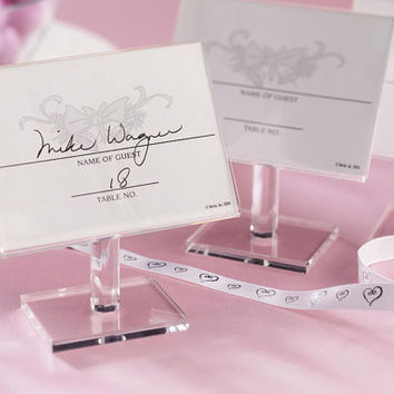 24 Individual Free Standing clear favor frames for all your Wedding place cards or table numbers