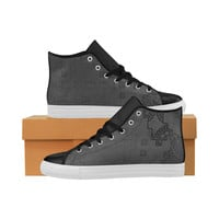 Black NERO High Top Leather Men's Shoes