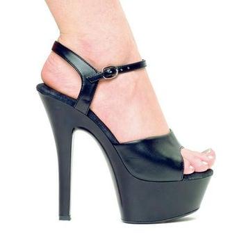 "6"" Heel Leather Sandal."