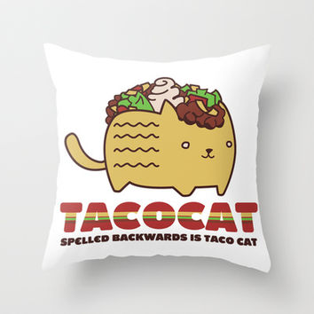 Tacocat Throw Pillow by LookHUMAN