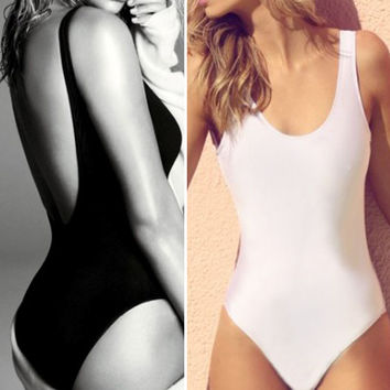 Sexy Women Swimwear Backless Bikini Bodycon Beachwear Female One Piece Swimsuit Bathing Suit Swimming Wear ISP