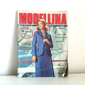 Vintage Modellina Sewing Pattern Magazine - Spring 1978