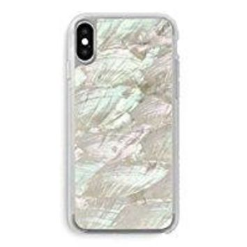 Recover White Abalone Shell iPhone X Case. Ultra Slim Protective Iridescent Seashell Cover for iPhone X (White)