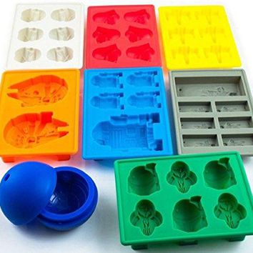 Set of 8 Star Wars Silicone Ice Trays   Chocolate Molds  Stormtr 80486c304