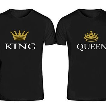 KING - QUEEN T-shirts + Your NAMES or another text on the back
