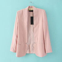OL Temperament Chiffon Suit Pink$43.00
