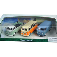 Volkswagen Buses 3pc Gift Set 1-43 Diecast Model Cars by Cararama