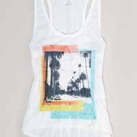 AEO 's California Graphic Tank (White)