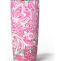 Red and Green Floral Ethnic Yeti Rambler Skin Kit