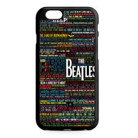 the beatles typography song lyric iPhone 6 Case
