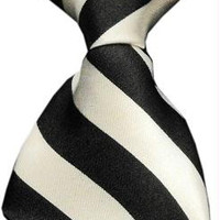 Dog Neck Tie Striped White