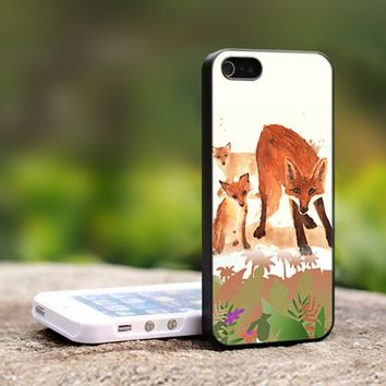 Fox Vintage - For iPhone 4,4S Black Case Cover