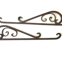 vintage Iron Brackets // Architectural Salvage // shelf hangers