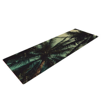 Tropical Lush Palm Trees California Vacation Travel Trendy Print Modern Unique Yogi Printed Funky Gypsy Boho Yoga Fitness Mat