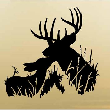 Doe Deer Hunting Wall Decals Mural Home Decor Vinyl Cabin Decor Stickers