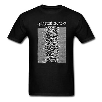 Pulsar Art used by Joy Division on Unknown Pleasures T Shirt Post Punk Japanese Tops Tee Shirts 100% Cotton Tshirt For Men Women
