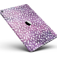 """White Flower Pedals Over Purple Grunge Surface Full Body Skin for the iPad Pro (12.9"""" or 9.7"""" available)"""