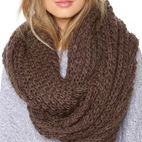 Paula Bianco Chunky Knit Wrap Scarf | SHOPBOP | Use Code: INTHEFAMILY25 for 25% Off