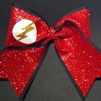 3in. Glitter Flash Gordon Superhero Cheer Bow