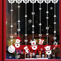 Glass Christmas Wall Sticker Decoration Pendant [9352137290]