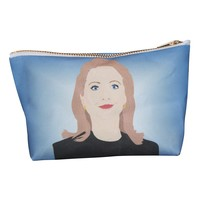 Hillary Clinton Pop Zipper Pouch and Makeup Bag – Illustrated and Handmade in the USA
