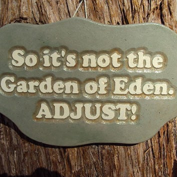$21.95 Statuary Concrete Garden Wall Hanging by MountainArtCasting