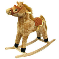 HAPPY TRAILS? Horse Plush Rocking Horse - Wooden Rocker