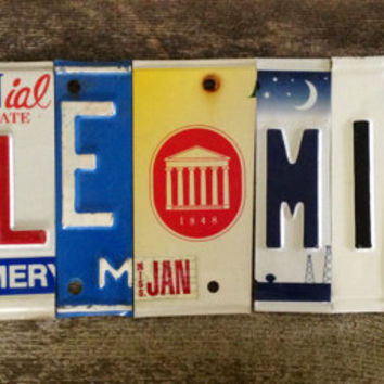 OLE MISS Rebels Marshall Henderson Hotty Toddy recycled license plate art sign tomboyART