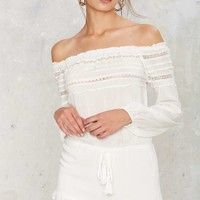 Coast of Freedom Off-the-Shoulder Romper