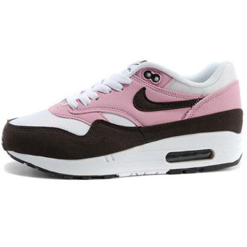 NIKE AIR MAX 1 Anniversary Fashion Leisure Sports Shoes Women Men Contrast Sneakers B-A-QDSK-Buy Micro Black/pink
