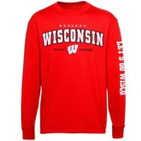 Wisconsin Badgers Double Hit III Long Sleeve T-Shirt - Cardinal