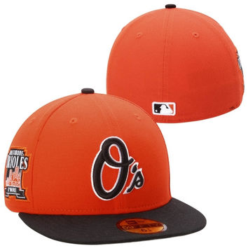 Baltimore Orioles New Era Patched Team Redux 59FIFTY Fitted Hat – Orange