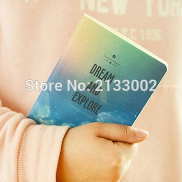 Wonderful Galaxy Star Sky A6 A5 B5 Notebook Diary Book Exercise Composition Notepad Escolar Papelaria Gift Stationery For Girl