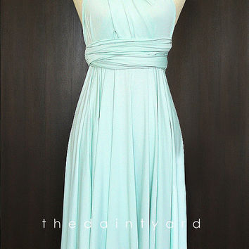 Mint Bridesmaid Convertible Dress Infinity Dress Multiway Dress Wrap Dress Light Green Wedding Dress Pastel