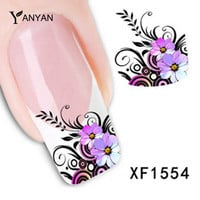 1sheet Hot DIY Designs Nail Art Beauty Flower Water Stickers Nail Decals Nail Decoration Tools