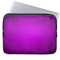 Purple glowing spotlight laptop sleeve
