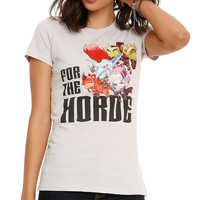 World Of Warcraft: Cute But Deadly For The Horde Girls T-Shirt