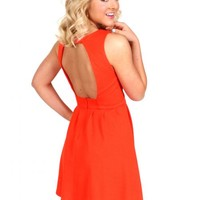 Stay True Red Orange Dress | Monday Dress Boutique