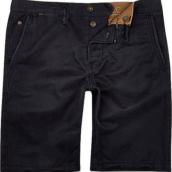 River Island MensNavy Jack & Jones Vintage shorts