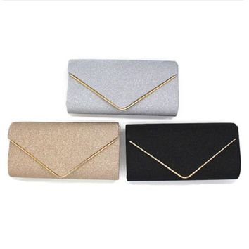 2017 Fashion Lady Evening Bag Women Sequined Clutch Crystal Day Clutch Wallet Wedding Purse Party Banquet Hand Bags Black Silver
