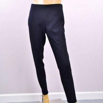 Ralph Lauren Collection Purple Label USA Black Leggings Ankle Zip Sz 8