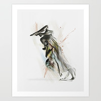 Drift Contemporary Dance Two Art Print by Galen Valle