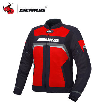 BENKIA Motorcycle Racing Jackets Body Armor Protective Moto Jacket unisex Motocross Off-Road Racing Jacket Clothes