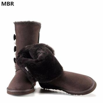 MBR UG Classic Women Snow Boots Leather Winter Shoes Boot bota feminina botas mujer za