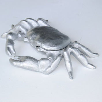 Silver Cast Iron Crab - Nautical Table top Decor - TC10