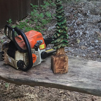 Tree Chainsaw Carving, Wood carving gift, Christmas Tree, Wood art by Josh Carte, Unique Wood, handmade Woodworking