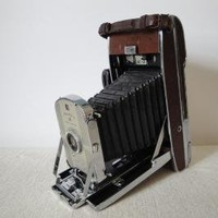Vintage Polaroid Land Camera 95A with Brown by FlossysTreasures