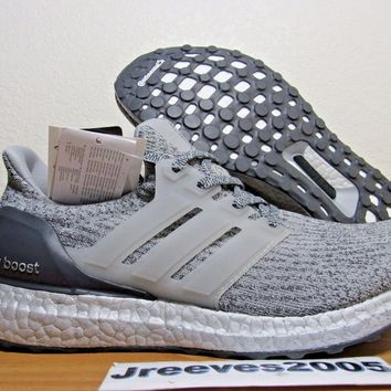 DS Adidas Ultra Boost 3.0 SILVER PACK Sz 10 100% Authentic PK Super Bowl BA8143