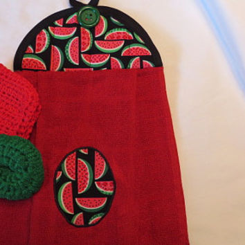 Kitchen Towel Set / Hanging Kitchen Towel Set / Hanging Dish Towel Set/ Wedding Gift Set